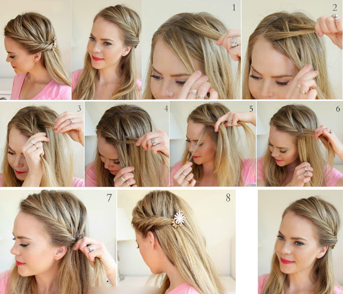 Princess Braid Has New Hairstyle, French Romantic With Some Cute; What  Important Is It Is Very Easy To DIY At Home, Just Following The Picture  Tutorial For ...